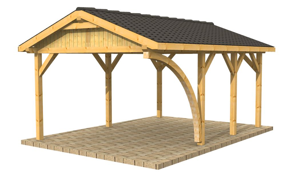 High Quality Timber Buildings Wooden Carports Shelters
